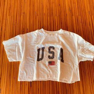 USA cropped t-shirt